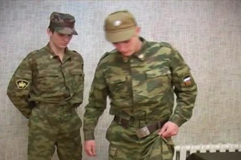 Soldier acquires A thrashing previous to jerking off!