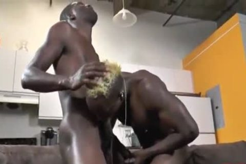 3some darksome Muscle homosexual men Sex