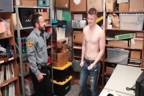 Tall blond Straight lad Barebacked By old lusty Security