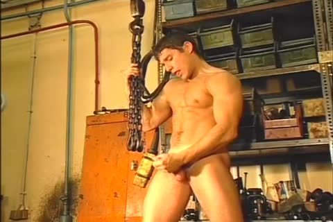 Daryl Dominquez Jerks Off His throbbing ramrod In The Garage