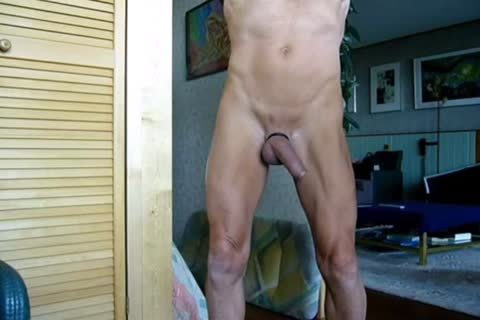 Stripping, Swinging My ramrod, Jerking-off And Cummin In The End