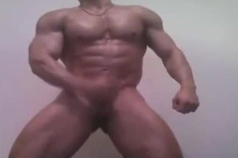 beefy homosexual boy Whacking Off