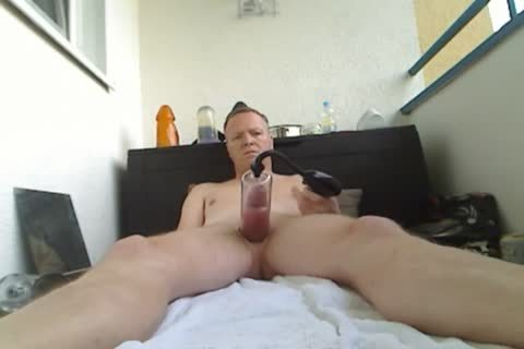 Pumping My weenie And butthole, sextoy poke