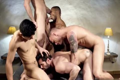 juicy gay double penetration With sperm flow