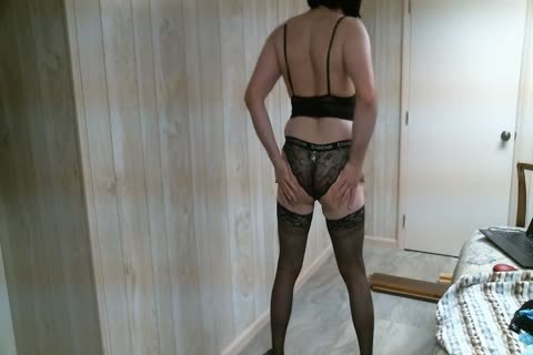 Crossdresser Trying On panties 2, Finishing With vibrator