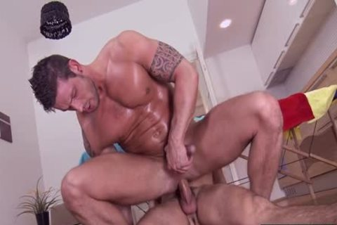 humongous cock Daddy anal invasion With Facial